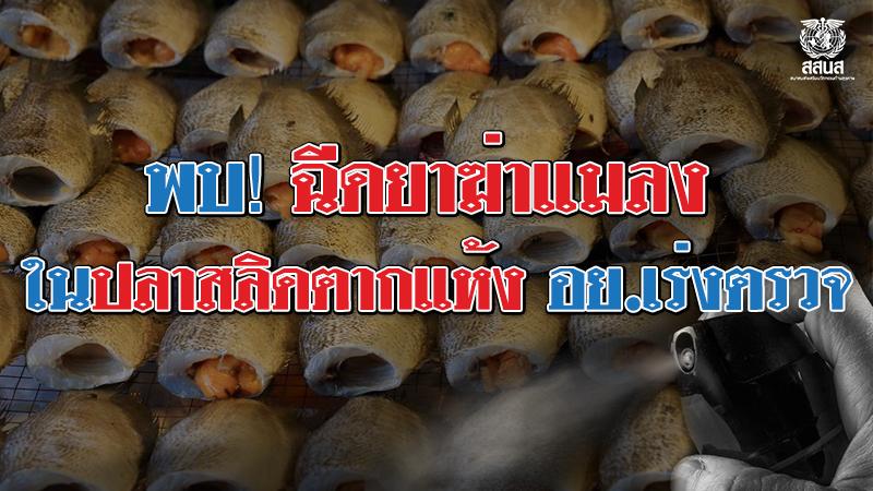 ปลาสลิดฉีดยาฆ่าแมลง