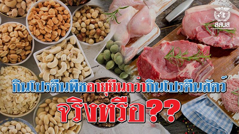 โปรตีนจากถั่วและสัตว์